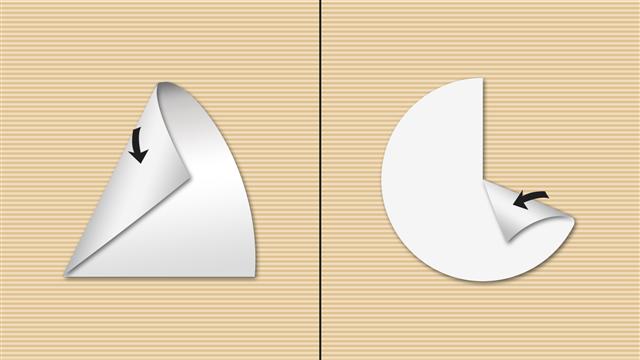 Fold a cone