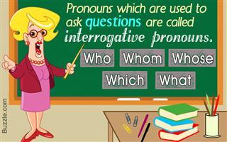 Interrogative pronouns examples