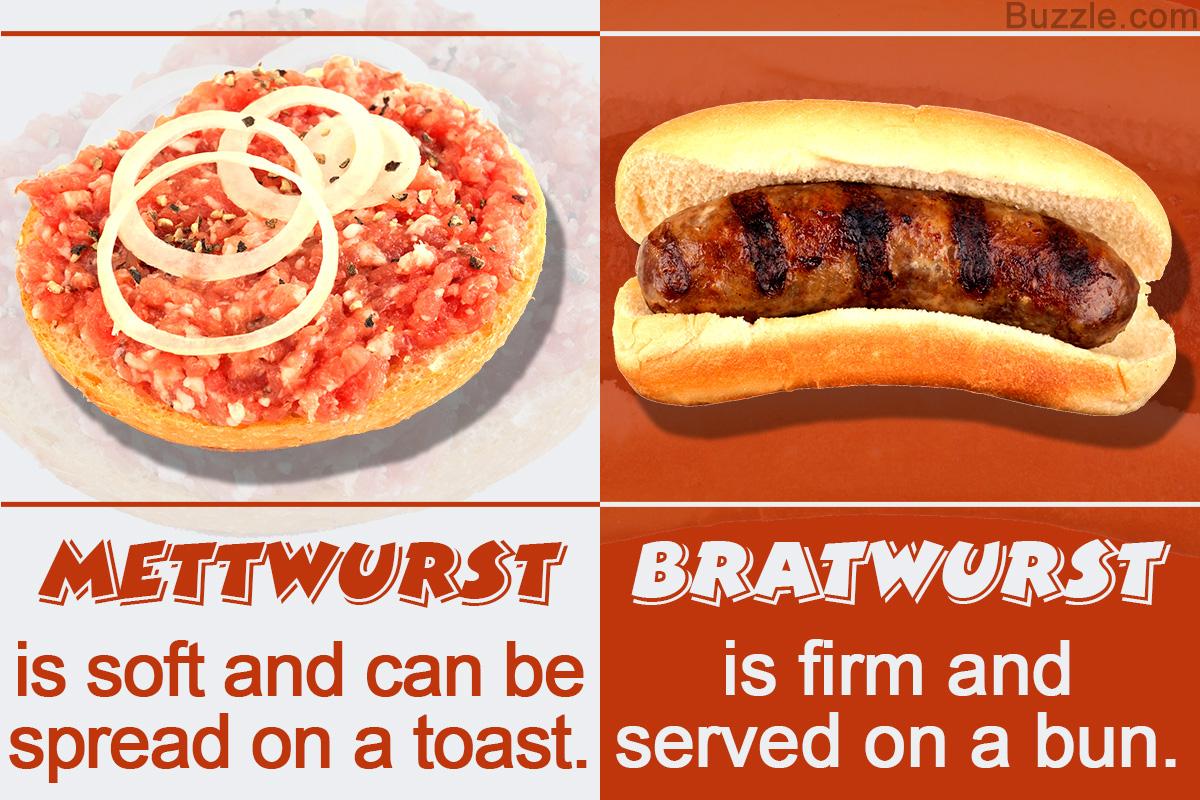 Mettwurst Vs. Bratwurst