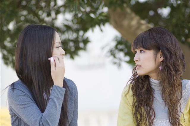 Female student talking