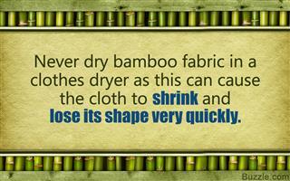 Bamboo fabric care tips