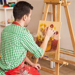 Man doing painting