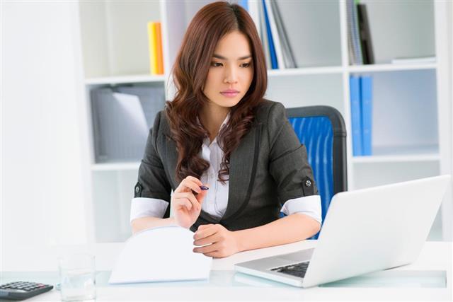 Entrepreneur doing work