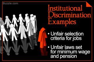Institutional discrimination examples