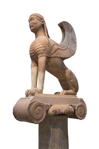 Marble sphinx