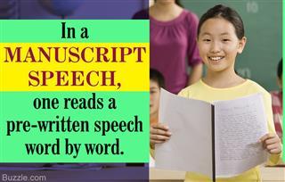 Meaning of manuscript speech