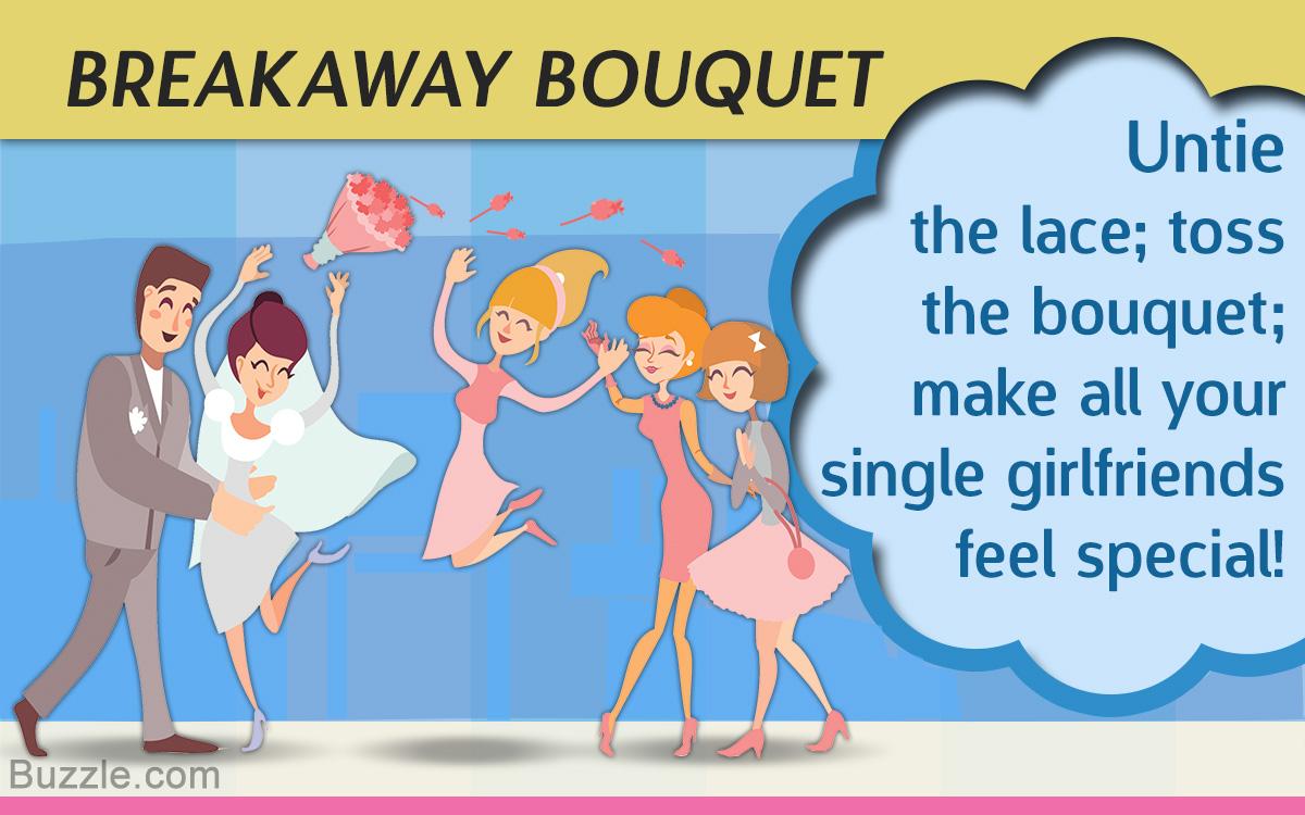 Alternative for garter and bouquet toss - breakaway bouquet