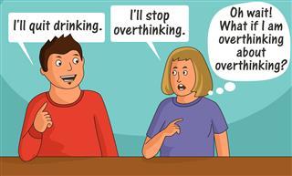 Boy and Girl Overthinking