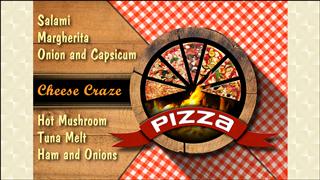 Pizza Rustic Menu Design