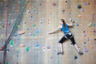Teenage Rock Climber