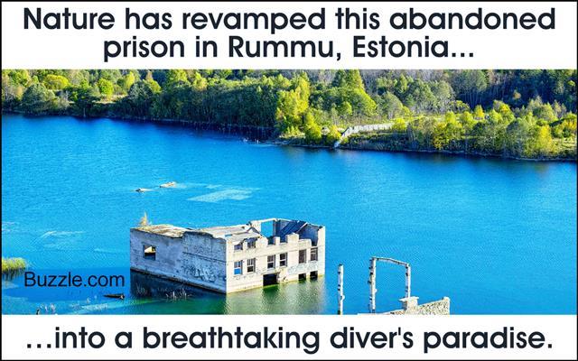 Abandoned prison. Rummu, Estonia