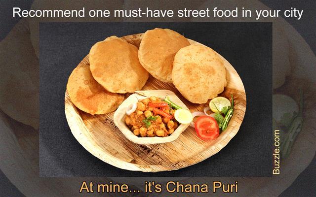 Chole with puri or Chana Masala with Puri Indian Food