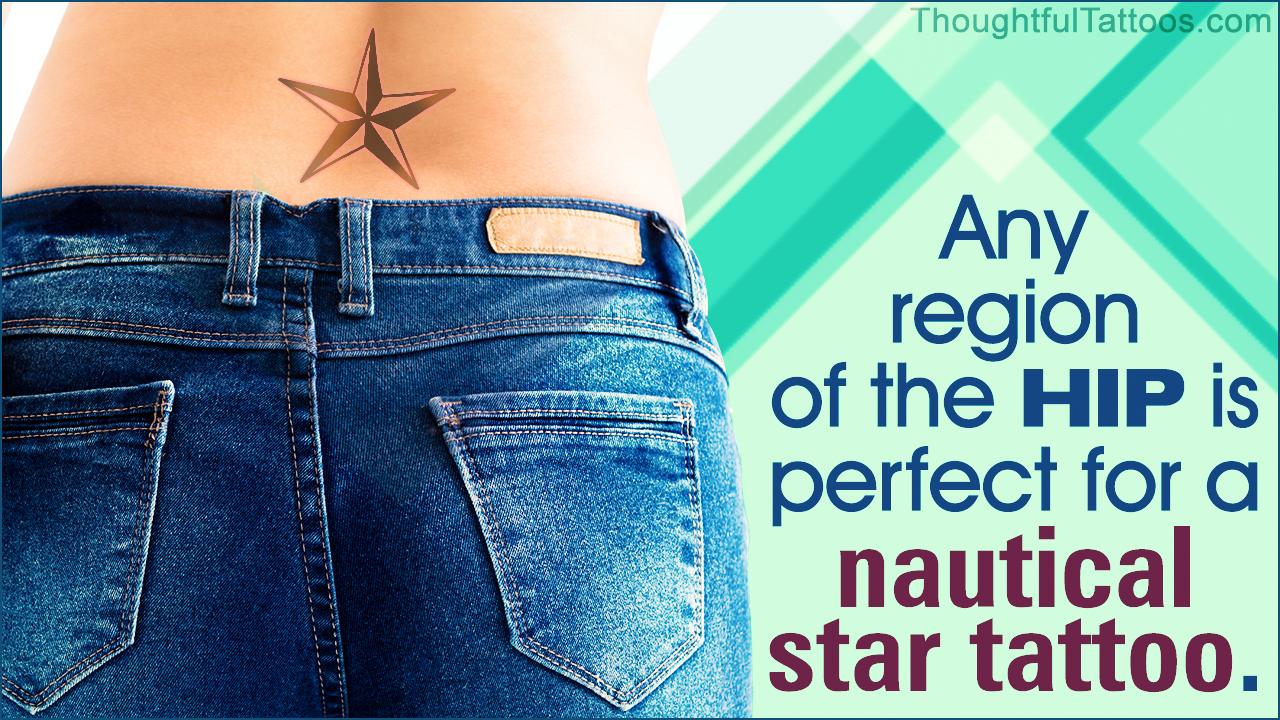 Nautical Star Tattoos on Hips
