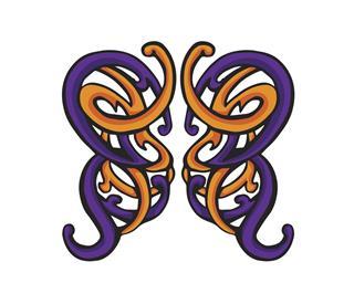 Swirling Butterfly Celtic