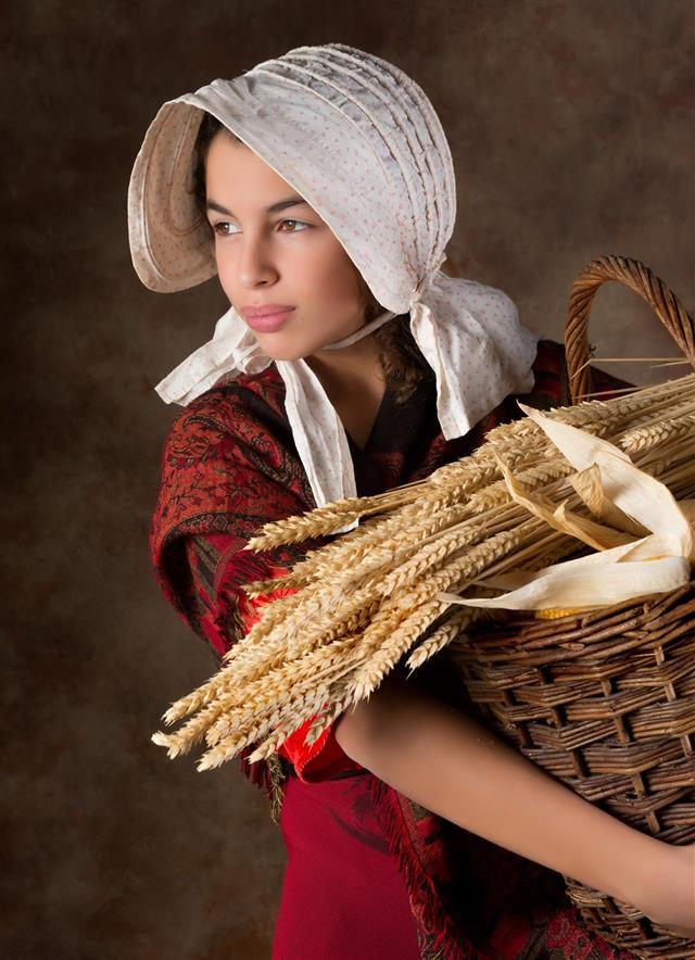 Victorian peasant girl