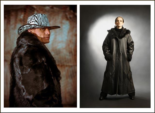 Man In Black Fur Coat