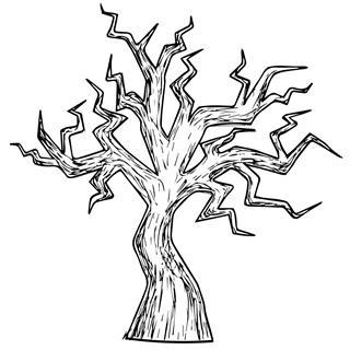 Halloween Tree Illustration