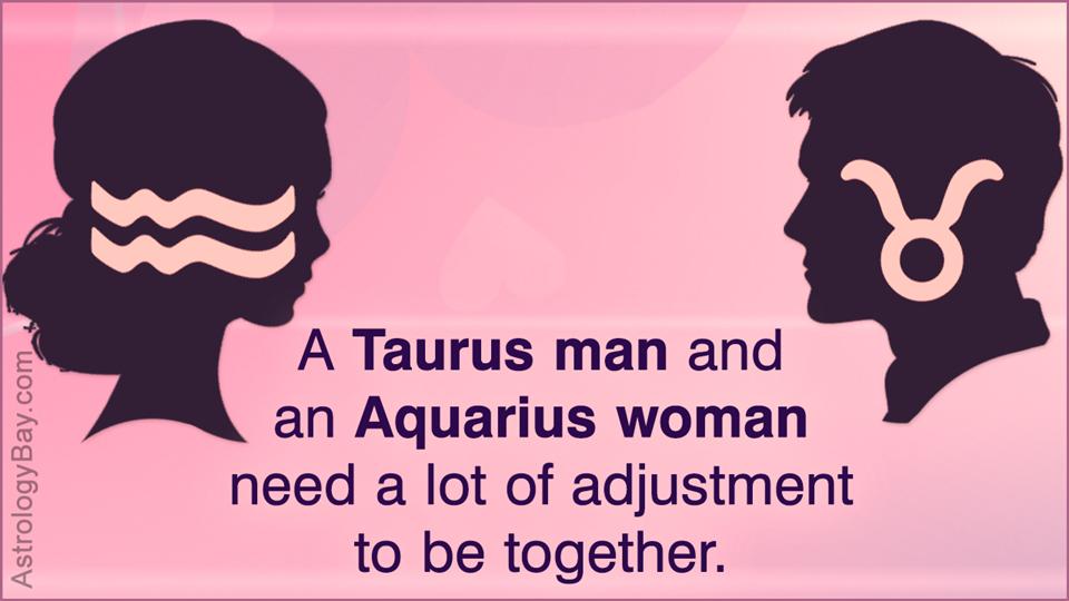 Taurus man and Aquarius woman
