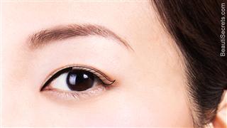 Upper lash line eyeliner step