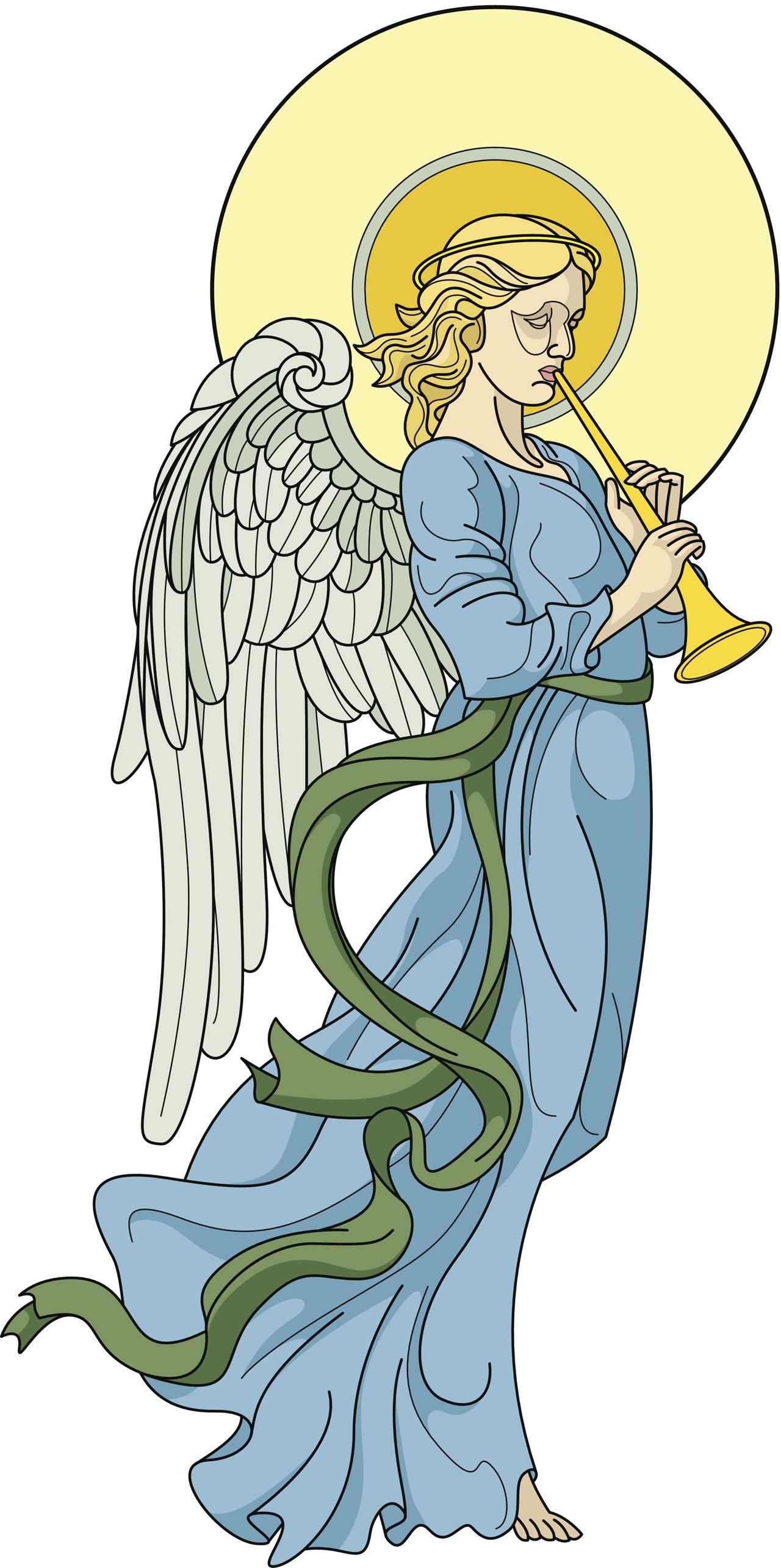 angel clip christmas flute joy