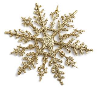 Gold Glitter Snowflake