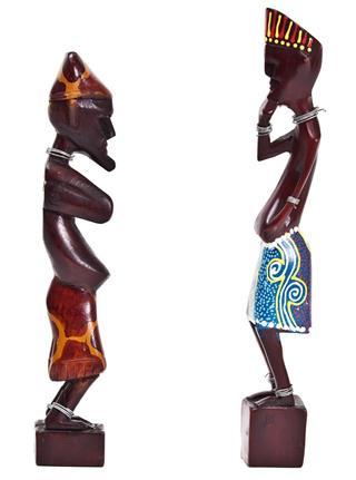 Wooden African human figurine