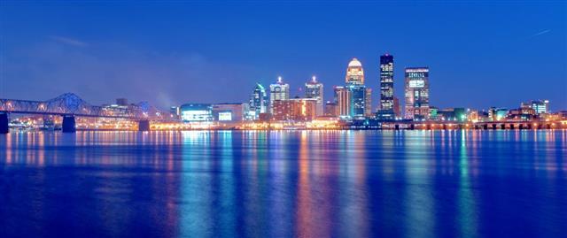 Louisville, Kentucky Skyline at Night