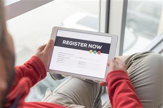 Registration Form on Tablet