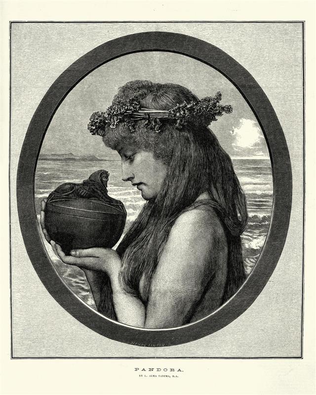 Greek mythology Pandora and her box