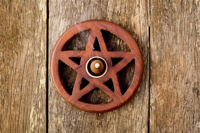 Wooden Wiccan Pentagram