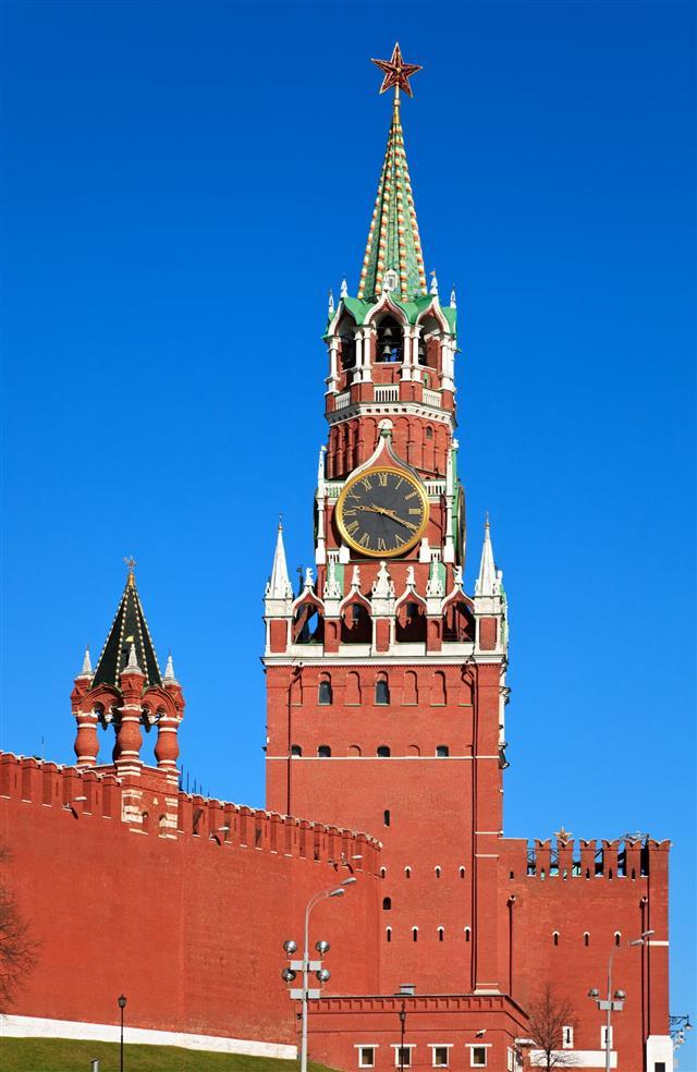 Spasskaya Tower Moscow Kremlin Russia