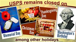US postal service holidays