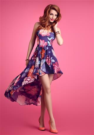 Fashion Sensual Redhead Girl