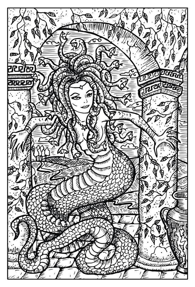 Gorgon Antique Myth Character