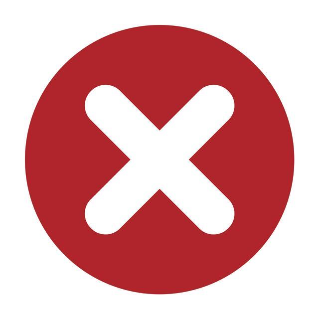 Flat Round X Mark