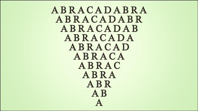 Alchemy abracadabra symbol