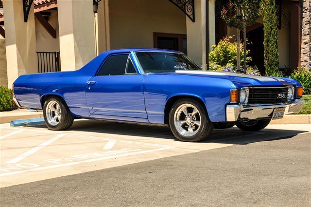 Blue Chevrolet El Camino
