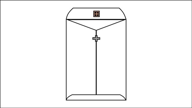 Metal Clasp envelope
