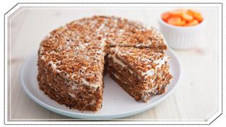 Homemade Carrot And Walnut Cake