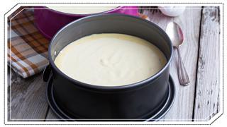 Magic Cheesecake Bevor Baking