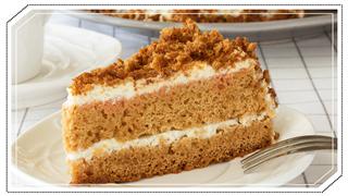 Slice Of Honey Cake Light Background Selective Focus