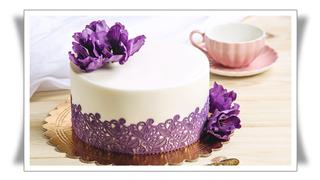 Purple Fondant Flowers