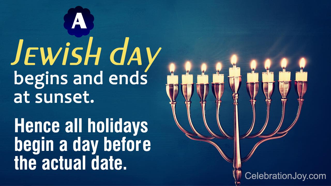 Jewish Holidays 2018