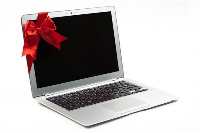 Laptop Red Ribbon