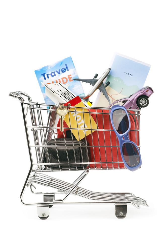 Shopping Cart Cruise Flight Car Rental
