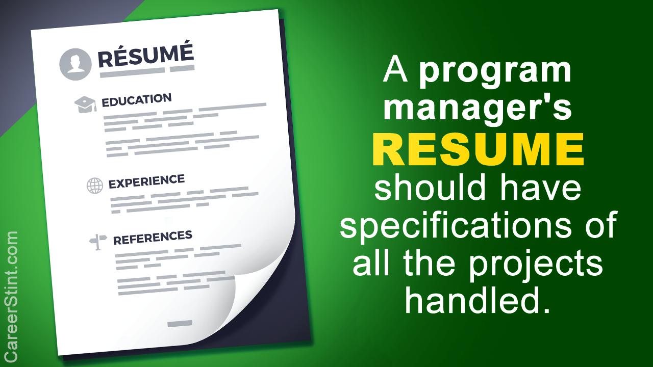 Program Manager Resume