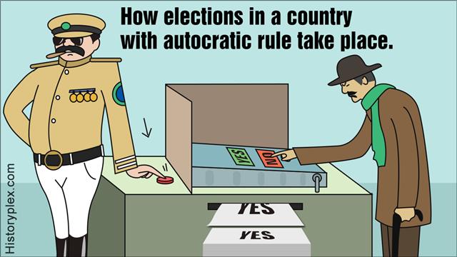 Dictator man voting machine