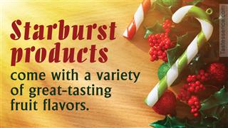 Ingredients in Starburst candy