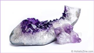 Amethyst precious crystals