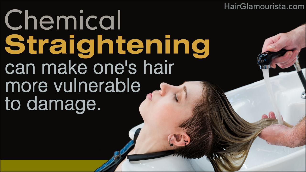 Chemical Hair Straightening